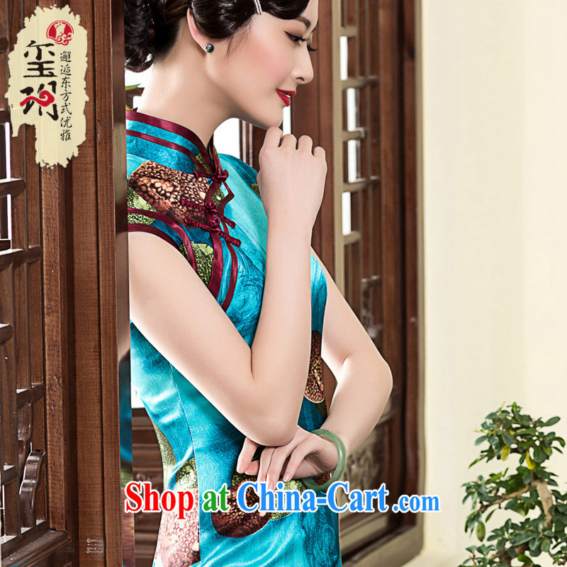Yin Yue Seal spring 2015 new banquet stamp duty high-end dresses elegant refined short-sleeve, cheongsam dress picture color XL pre-sale 20 days