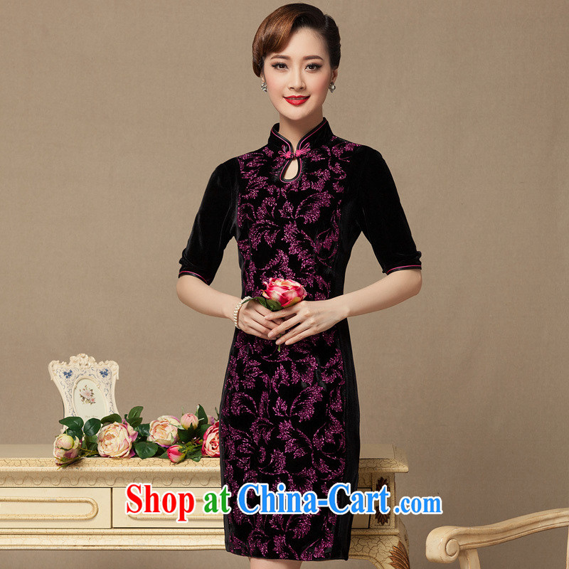 Yin Yue seal 2015 new dresses wedding dresses really scouring pads on silk dresses, wool high retro dresses picture color XXXXL