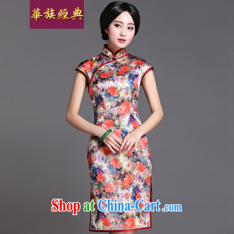 China classic 2015 new retro everyday, qipao dresses improved and stylish beauty spring and summer short ?? XL