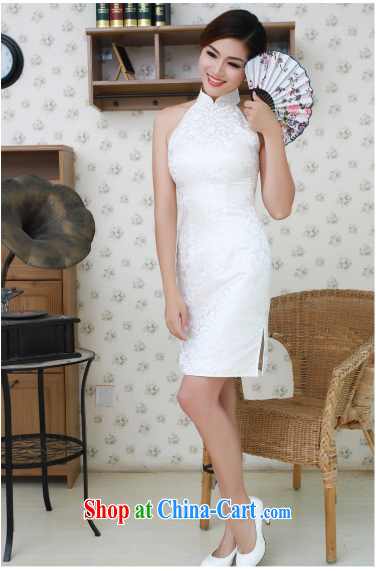 once and for all, white dresses, short star with Chinese small dress damask silk cheongsam manual for custom white tailored 10 Day Shipping pictures, price, brand platters! Elections are good character, the national distribution, so why buy now enjoy more preferential! Health
