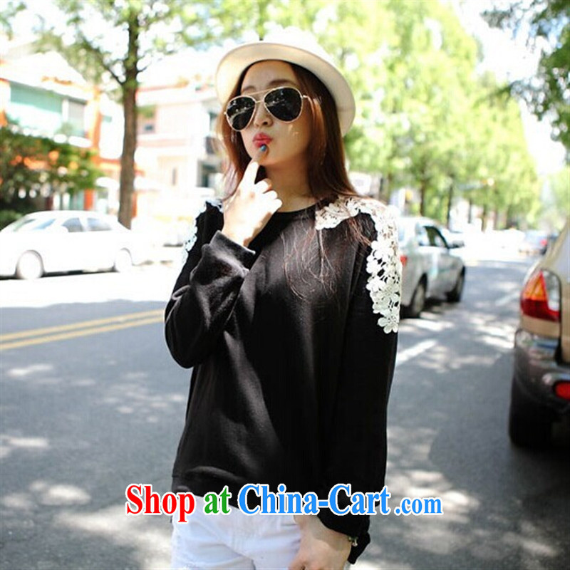 9 month dress Women and its exquisite floral pattern and shoulder stitching zipper, with T-shirt T shirt black are code