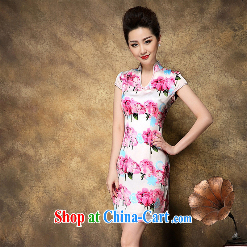 Old Beach style high stamp duty cultivating cheongsam dress invitation store distribution agents free pictures color XXL