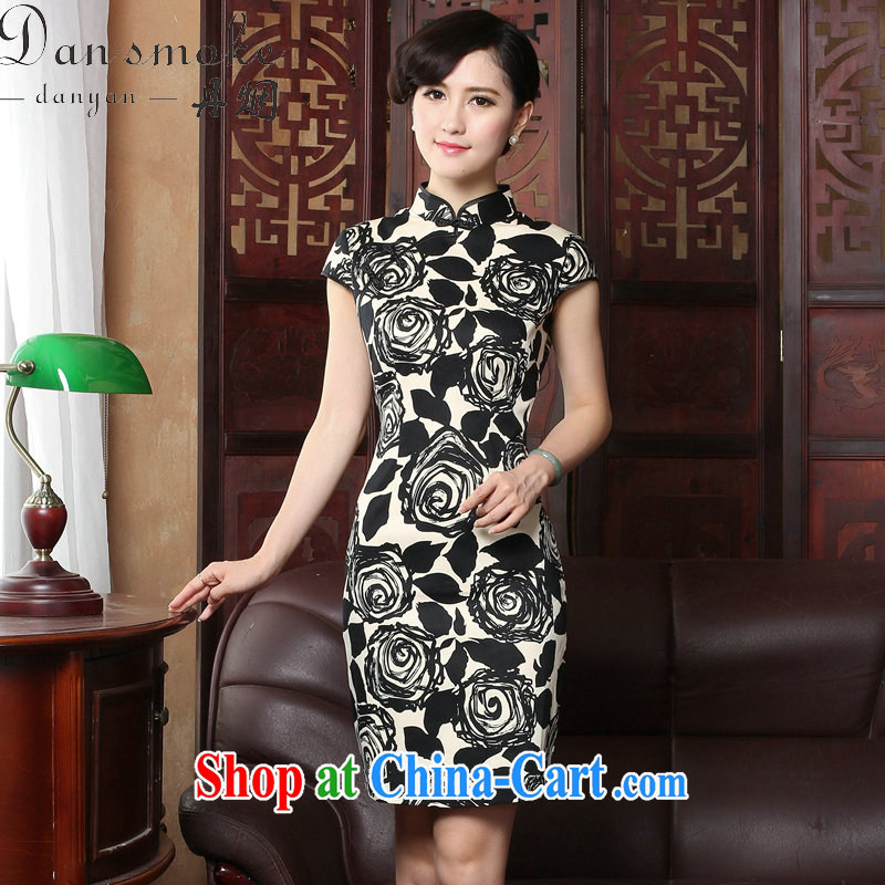Dan smoke summer 2015 new cheongsam dress short-sleeved Chinese improved legislative style retro burn spent cultivating cheongsam as figure 3XL