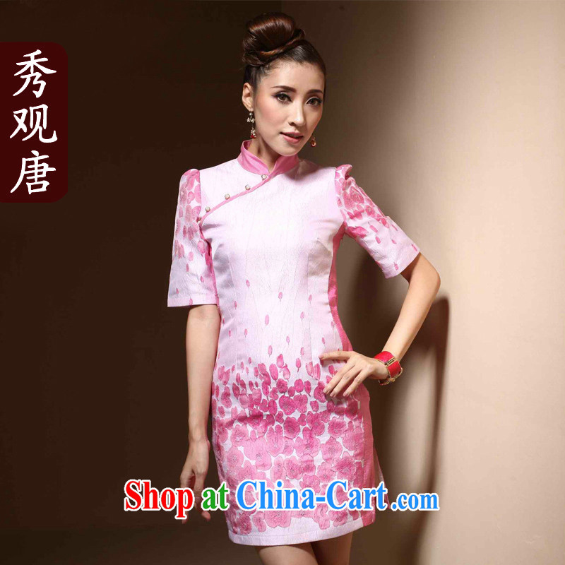 Cyd Ho Kwun Tong toner cluster improvement outfit cuff new 2015 spring temperament female retro dresses QZ XXL 3837