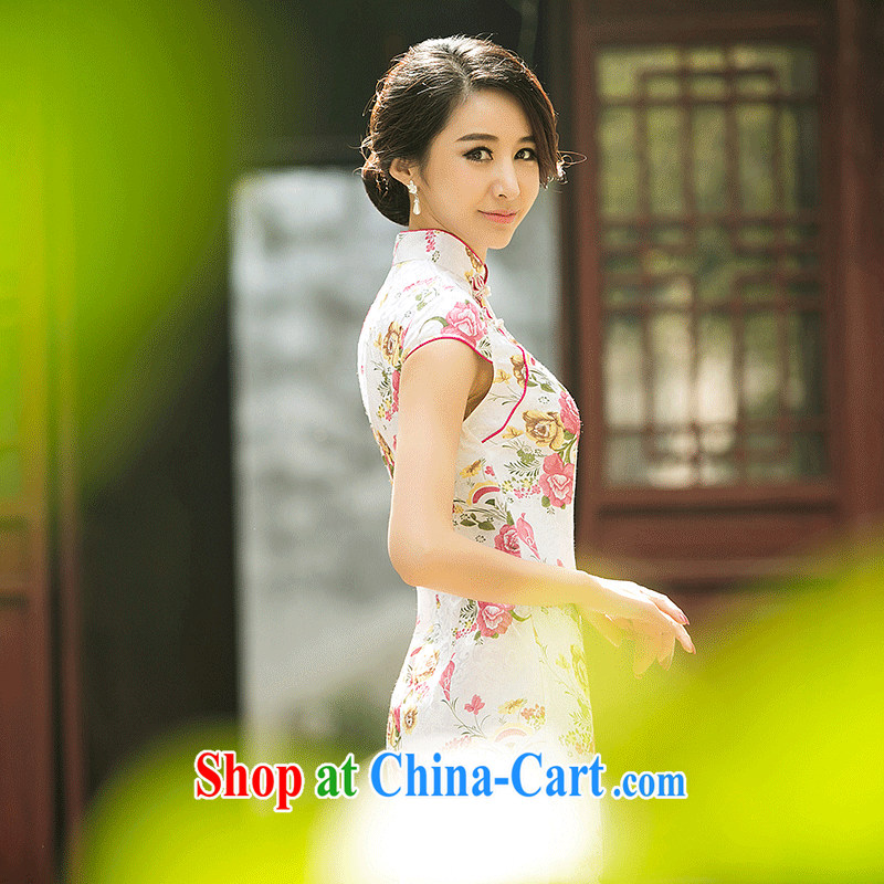 2015 National wind girl with simple and beautiful qipao improved ...