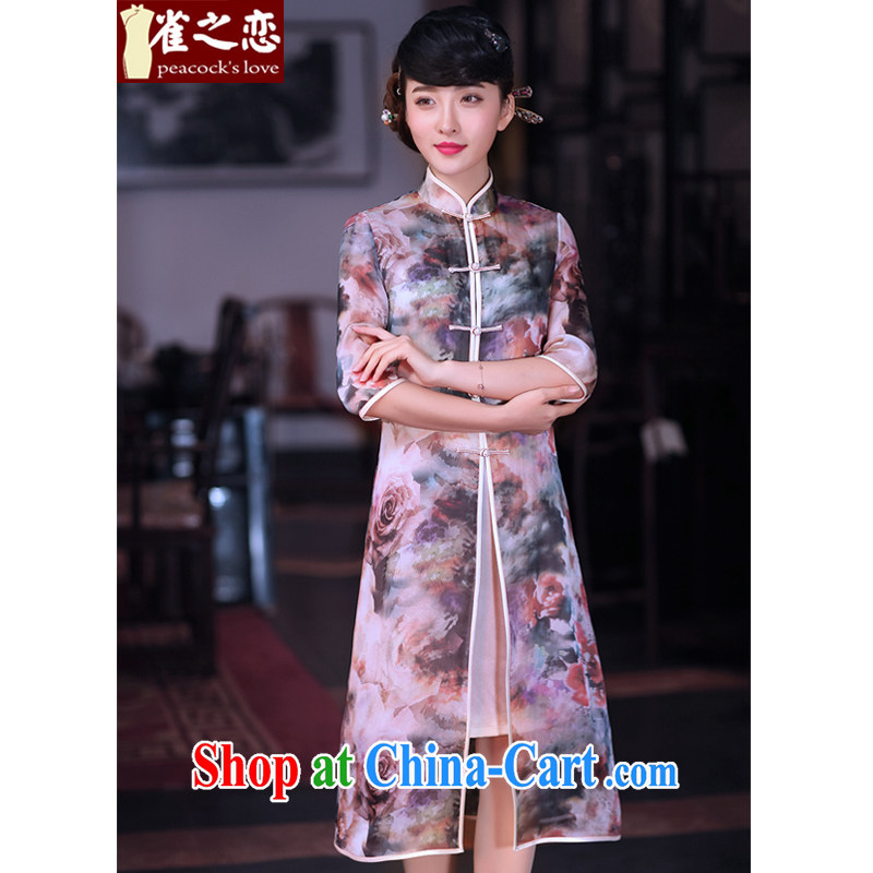 Birds love clouds as Flower Spring 2015 the new Chinese Tang with two-piece, Chinese T-shirt jacket QC 628 figure - pre-sale 7 days XL