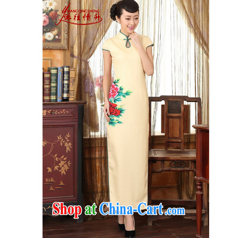 According to the situation in New Chinese qipao the color day Hong Kong cheongsam dress beauty graphics thin elegance long robes as figure 2 XL