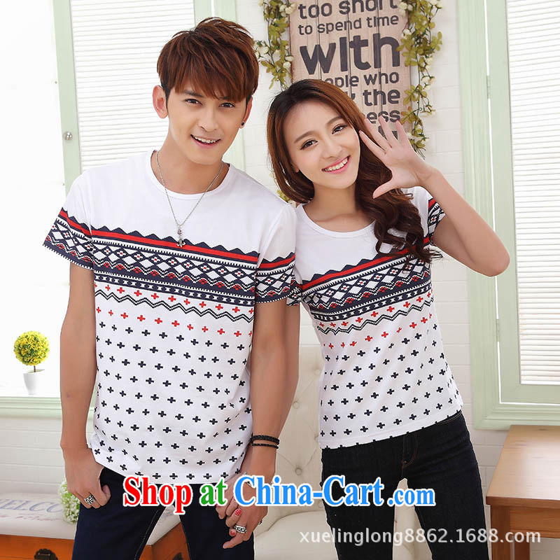 9 month dress couples the 2015 Korean fashion leisure couples round-collar short-shirt fluorescent green dress XXL