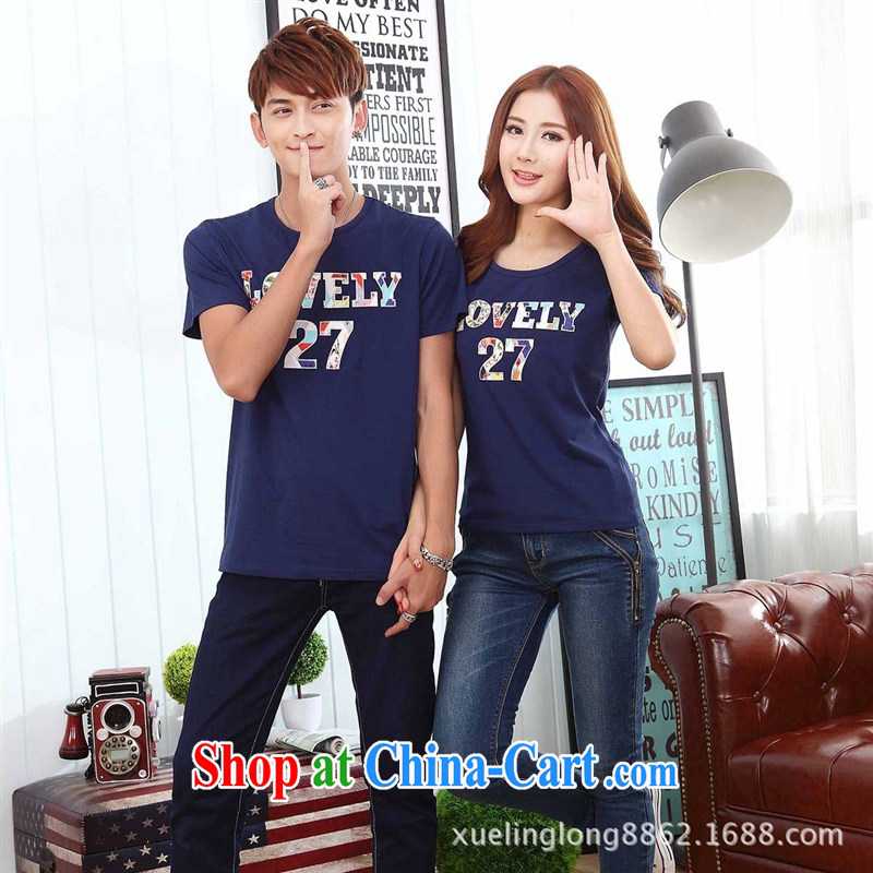 9 months costumes for couples the 2015 Korean Beauty couples short T summer couples mount royal blue dress M