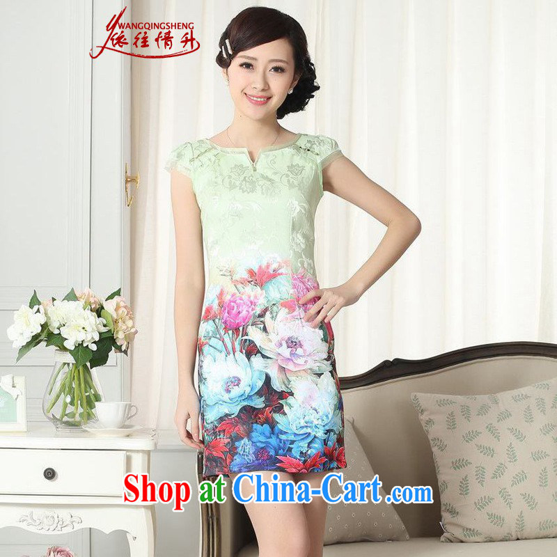 According to summer in new, improved Chinese qipao elegance beauty short cheongsam dress such as figure 2 XL