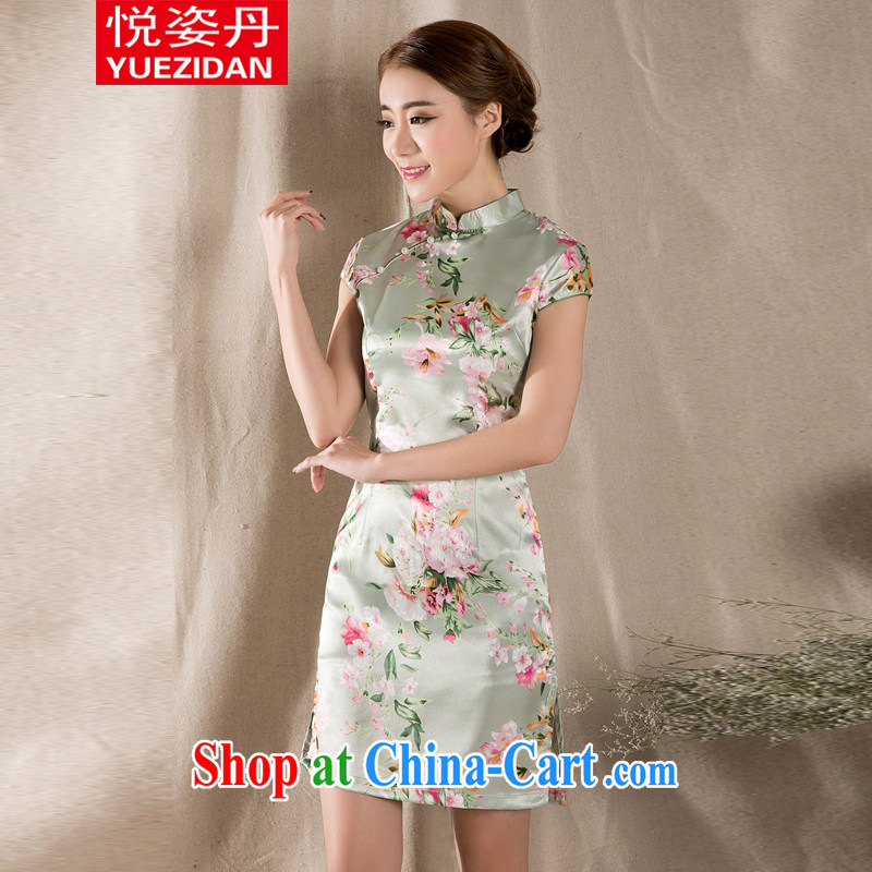 Yue Chi Bin Laden 2015 summer new tray snap stamp arts ethnic wind improved retro dresses skirt China wind suit XXL