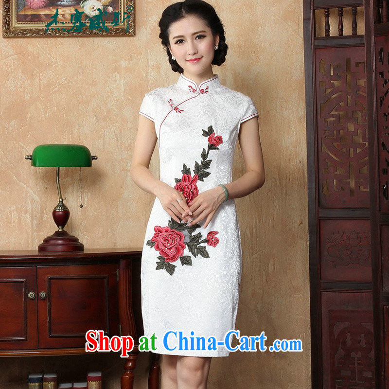 The Jessup, new spring and summer lady elegance, for manually tie embroidered beauty dresses girls dresses Y white L