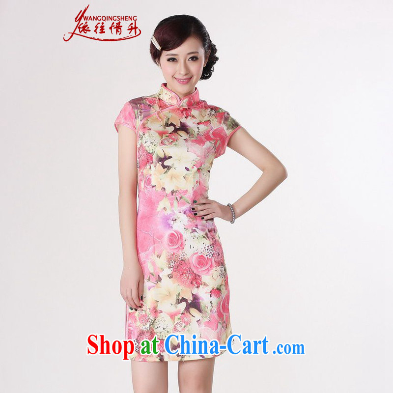 In accordance with the conditions in summer and stylish new Chinese improved Chinese qipao, for a tight short, cultivating Chinese cheongsam dress as figure 2 XL