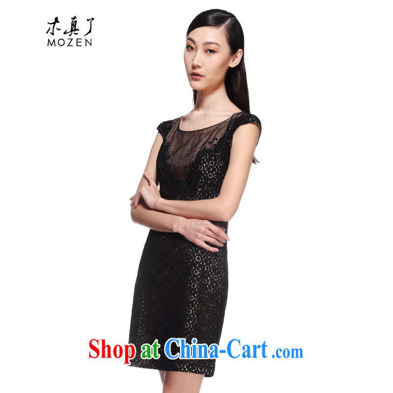 Wood is really the female 2015 new summer daily improved cheongsam stylish beauty lace dress 01 21,953 black 21,953 XXL (A)