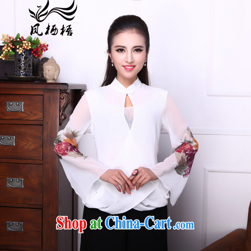 Bong-amphibious Ori-Emily, summer 2015 new stylish outfit snow jacket woven horn cuff Chinese T pension DQ 1538 white XXL