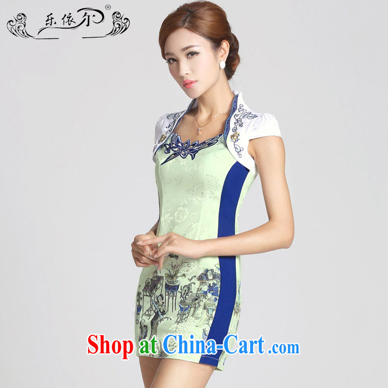 And, in accordance with new girls spring and summer dresses skirts improved retro stamp beauty-lady dresses female LYE 66,601 white XXL