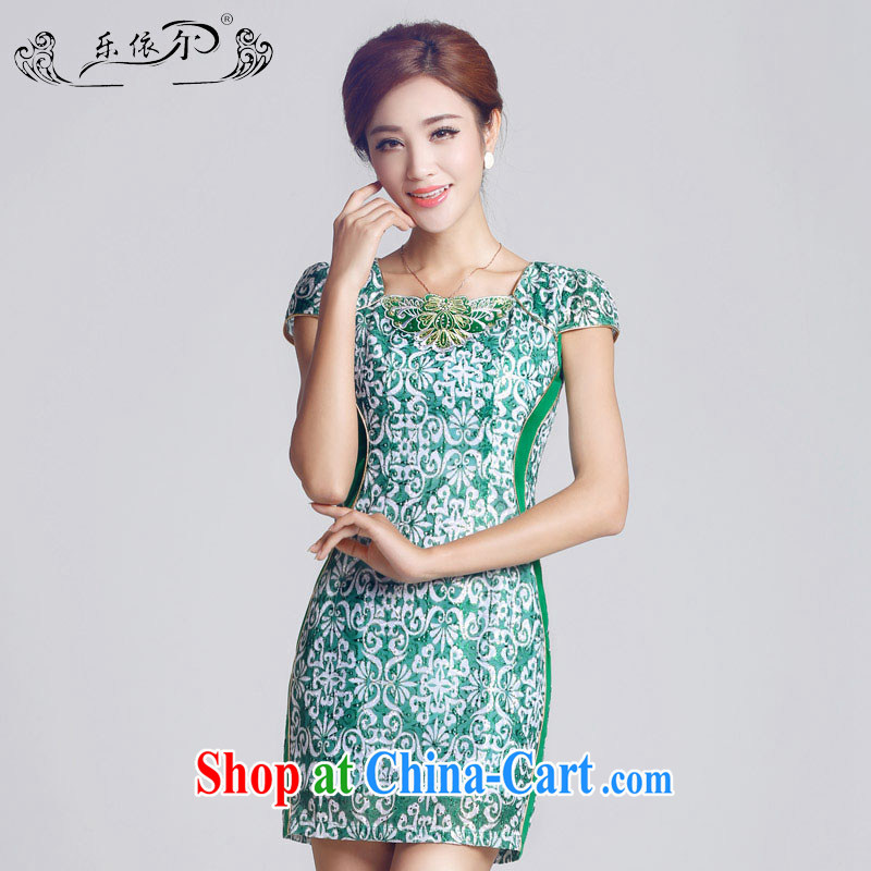 And, according to female new retro embroidery girls dresses, short-day lady cheongsam dress green retro LYE 66,603 green XXL