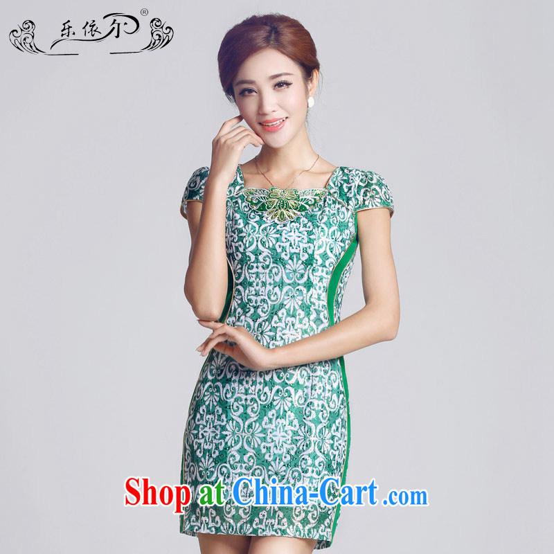 And, according to female new retro embroidery girls dresses, short-day lady cheongsam dress green retro LYE 66,603 green XXL