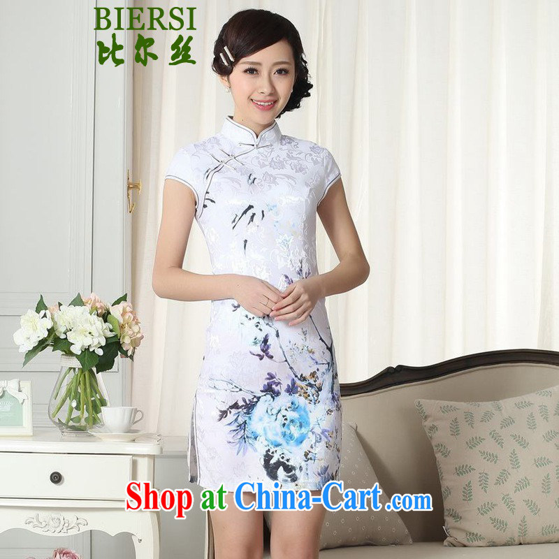 Carl Bildt, summer new elegance Chinese improved Chinese qipao, for a tight short, cultivating cheongsam dress LGD/D #0281 figure 2 XL
