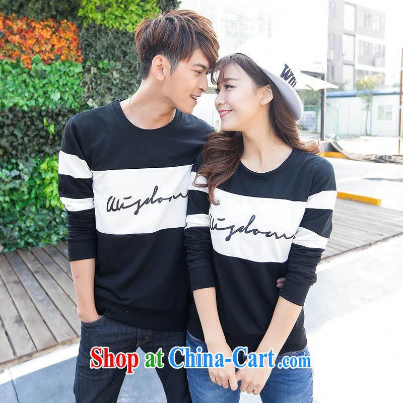 Ya-ting store spring 2015 new couples with long-sleeved shirt T beauty round-collar Korean solid T-shirt students serving on picture color male XXL