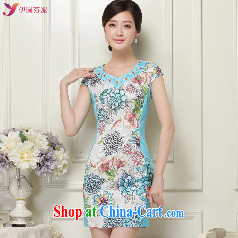 And, in accordance with stylish lady dresses beauty package and antique cheongsam dress girls spring new short cheongsam LYE 66,616 honeydew XL