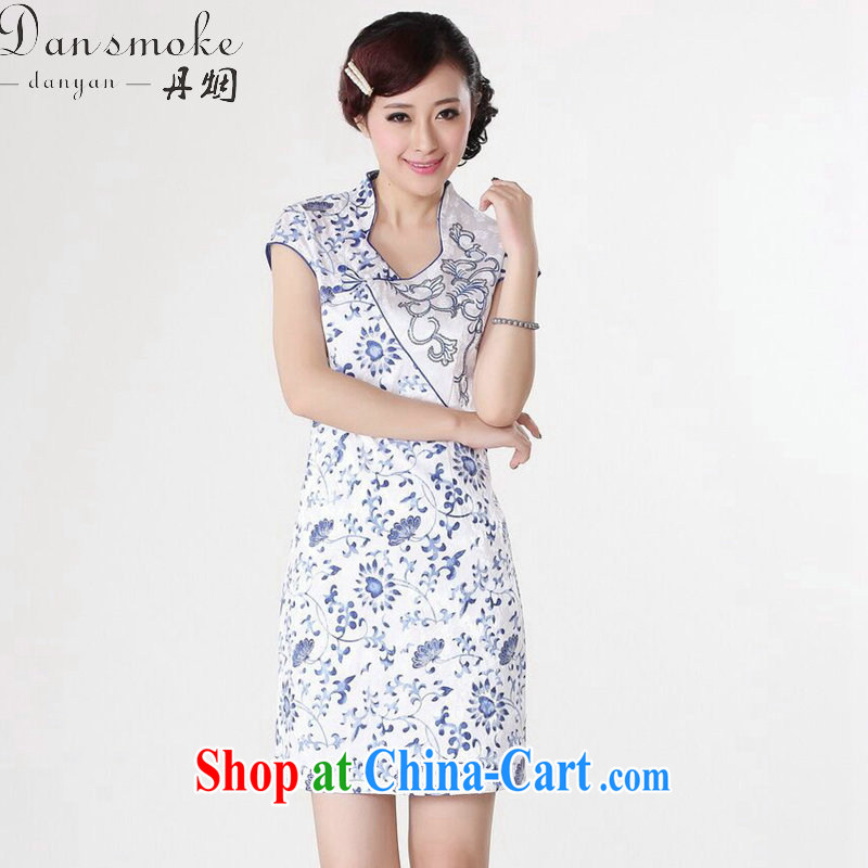 Bin Laden smoke dresses summer new, Tang Women's clothes Chinese improved retro cotton, dresses for Chinese short dress such as the color 2 XL