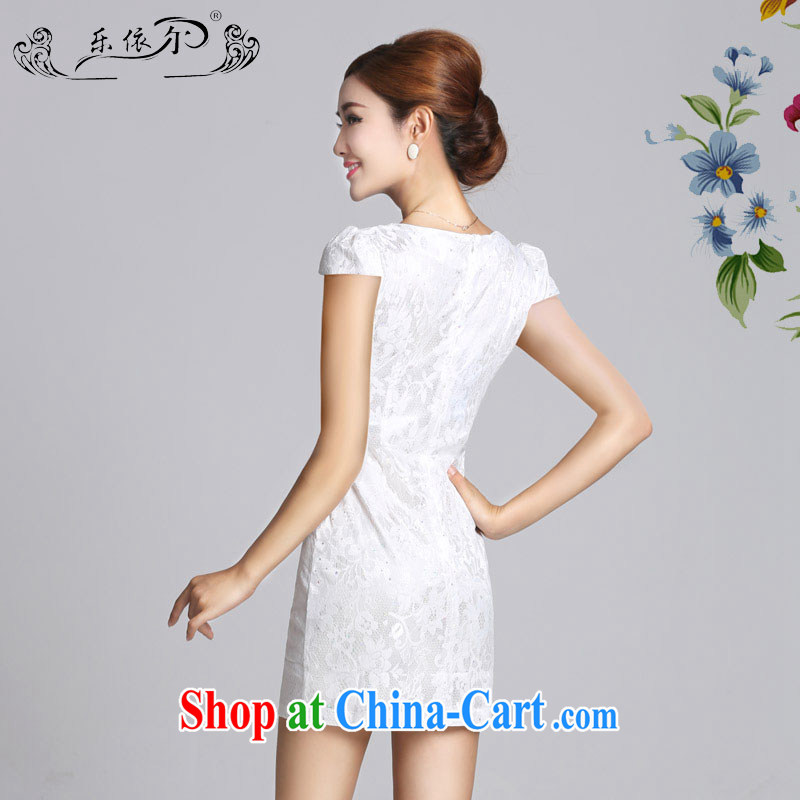 And, in accordance with antique lady dresses 2015 spring new embroidery flower cheongsam dress daily cultivating short cheongsam girls LYE 66,626 white XXL, and, in accordance with (leyier), shopping on the Internet