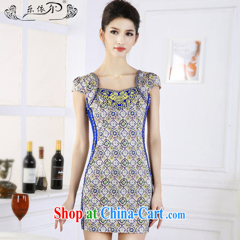 And, in accordance with new retro Ethnic Wind girl cheongsam embroidery take short cheongsam dress classic lady graphics thin spring 66,639 LYE XXL suit