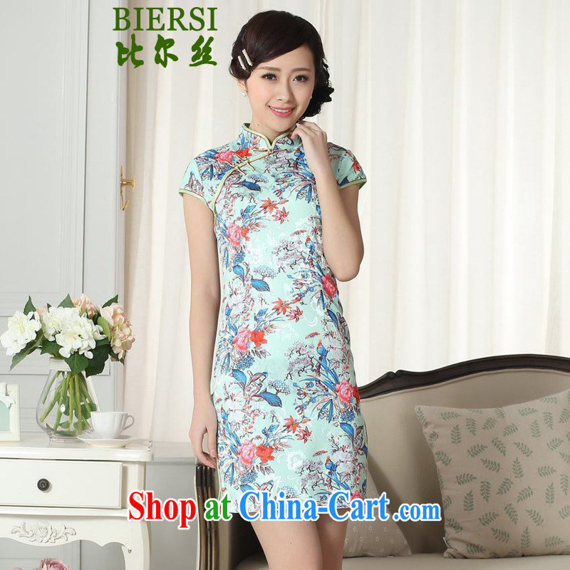 Carl Bildt, summer new elegance Chinese improved Chinese qipao, for a tight cultivating short-sleeved cheongsam dress LGD/D #0282 figure 2 XL