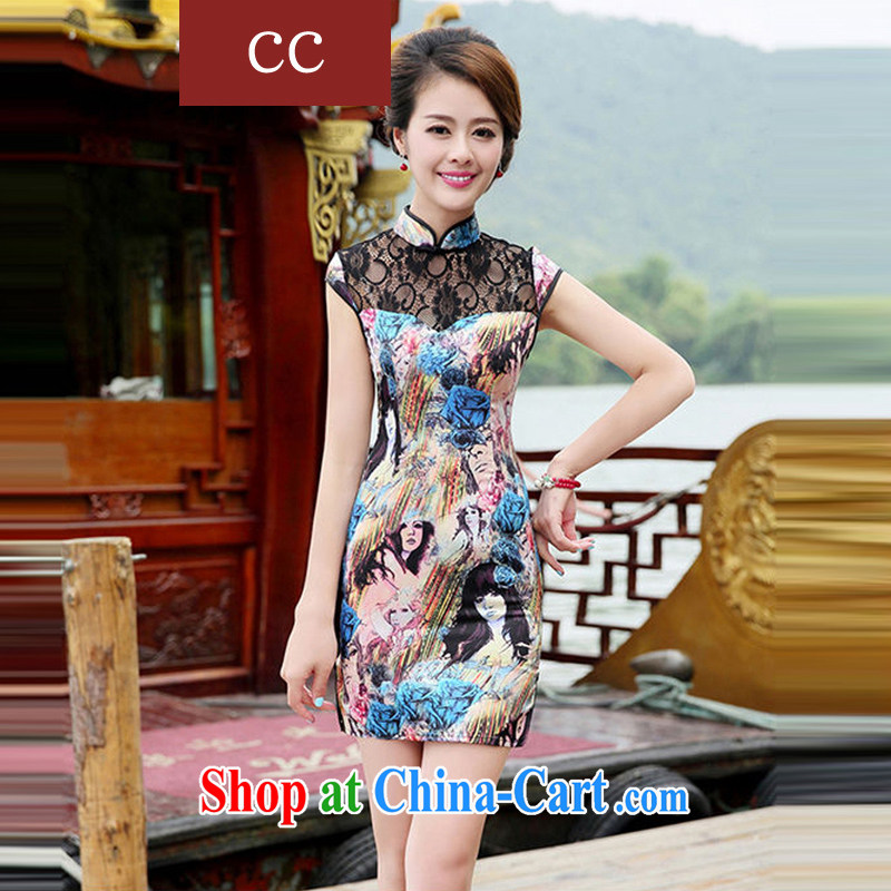 Appeals to appeal to 2015 spring and summer new female dresses retro beauty improved modern day Ms. cheongsam dress dresses Beauty Figure M