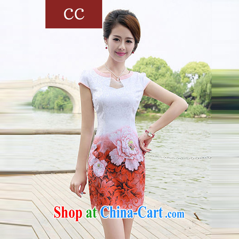 Appeals to appeal to 2015 new cheongsam dress Chinese improved cheongsam girls toast clothing dresses cheongsam dress pink XXL