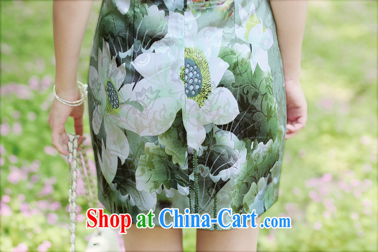 Appeals to appeal to 2015 Mr Ronald ARCULLI is new, improved and stylish embroidery cheongsam girls porcelain cheongsam dress dresses green XXL pictures, price, brand platters! Elections are good character, the national distribution, so why buy now enjoy more preferential! Health