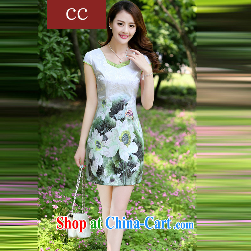 Appeals to appeal to 2015 Mr Ronald ARCULLI is new, improved and stylish embroidery cheongsam girls porcelain cheongsam dress dresses green XXL