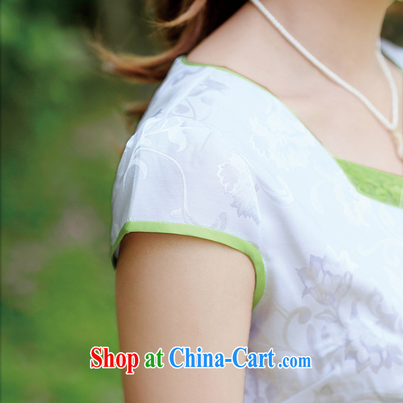 Appeals to appeal to 2015 Mr Ronald ARCULLI is new, improved and stylish embroidery cheongsam girls porcelain cheongsam dress dresses green XXL, appeal to appeal, and shopping on the Internet