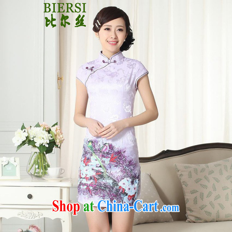 Carl Bildt, new Chinese qipao gown fashion, for a tight budget to spend cultivating short cheongsam dress LGD/D #0272 figure 2 XL