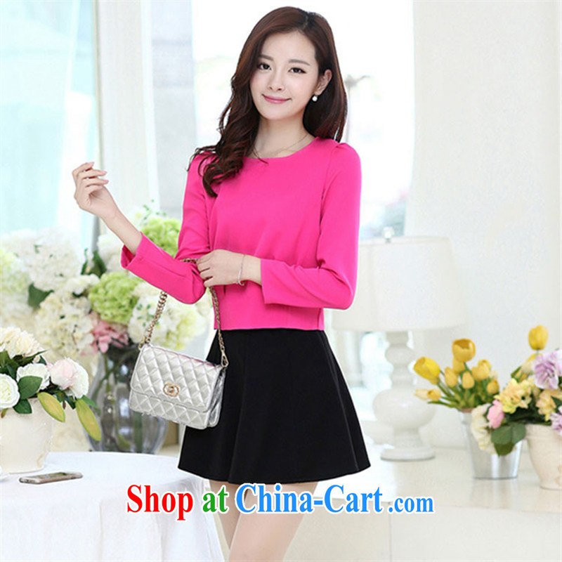 Black butterfly store 2015 spring new Korean female Two-piece video thin dresses 100 stylish ground body skirt green XL