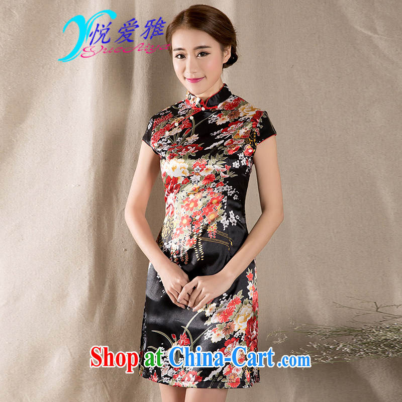 2015 new spring and summer short sleeve retro China wind Tang is improved cheongsam DRZ 12,273 fancy XXL