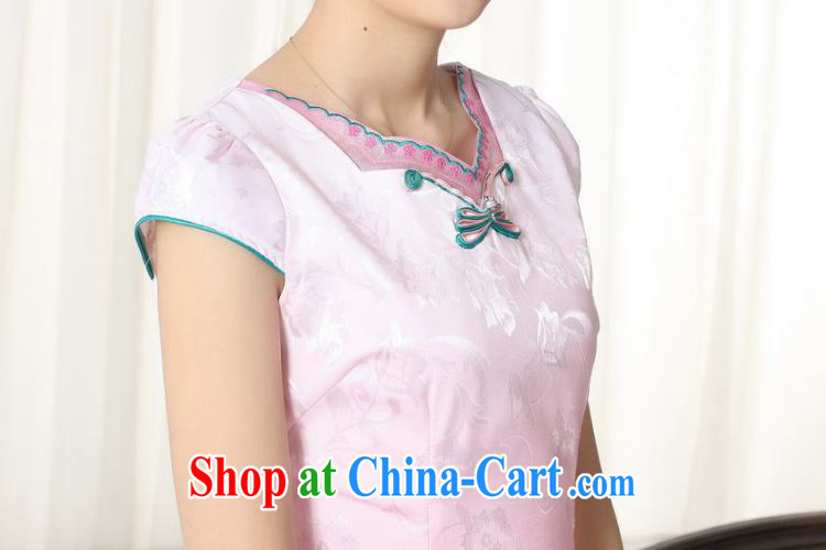 Jing contributed new summer elegance Chinese qipao improved graphics thin short cheongsam picture color 2 XL pictures, price, brand platters! Elections are good character, the national distribution, so why buy now enjoy more preferential! Health