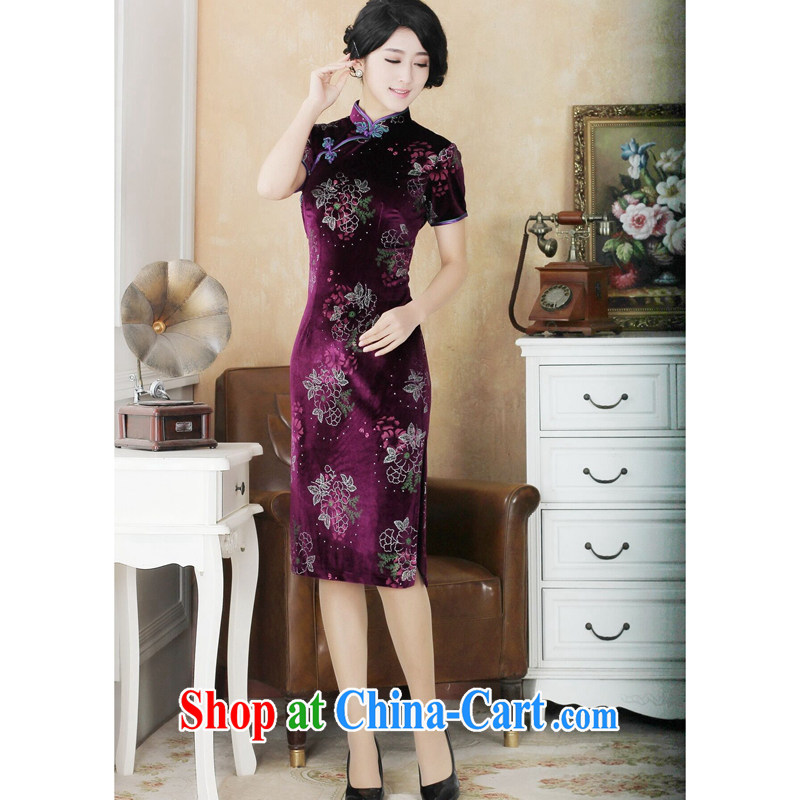 Dan smoke summer dresses new female Chinese Chinese improved, for the wool boom the cheongsam dress show - 13 2 XL