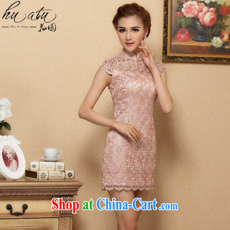 spend the summer Women's clothes new dresses and Stylish European water-soluble lace improved cheongsam dress Openwork sexy dresses qipao, for 2 XL