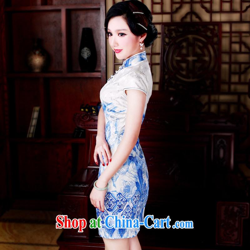 ruyi, 2015 new, Mr Ronald ARCULLI, short women dresses everyday dresses beauty short dresses qipao 5001 blue S sporting, wind, shopping on the Internet