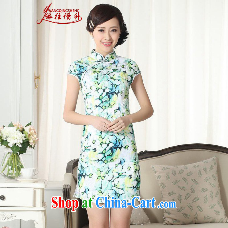 In accordance with the conditions in summer and stylish new, improved Chinese qipao, for a tight cultivating short cheongsam dress LGD_D _0258 figure 2 XL