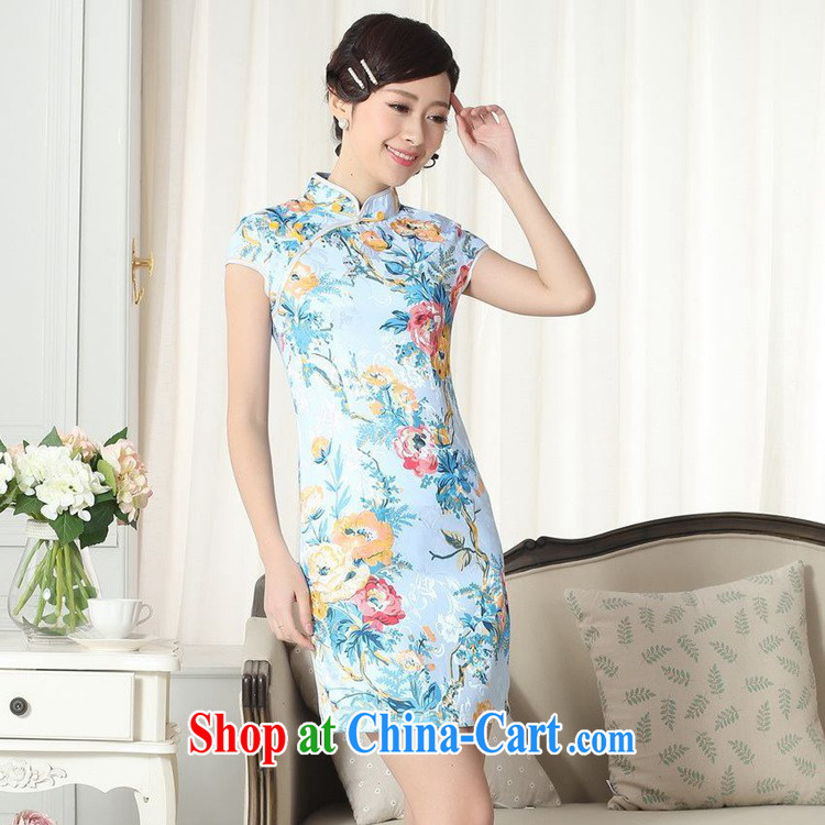 According to the situation in summer new jacquard cotton improved Chinese qipao Classic tray snaps cultivating short cheongsam dress LGD/D #0261 figure 2 XL pictures, price, brand platters! Elections are good character, the national distribution, so why buy now enjoy more preferential! Health