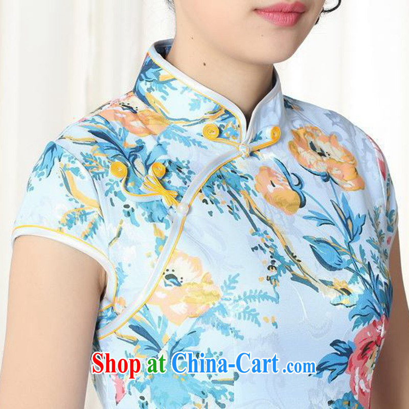 According to the conditions and in the summer, jacquard cotton improved Chinese qipao Classic tray for cultivating short cheongsam dress LGD/D #0261 figure 2 XL, in accordance with the situation, and, shopping on the Internet