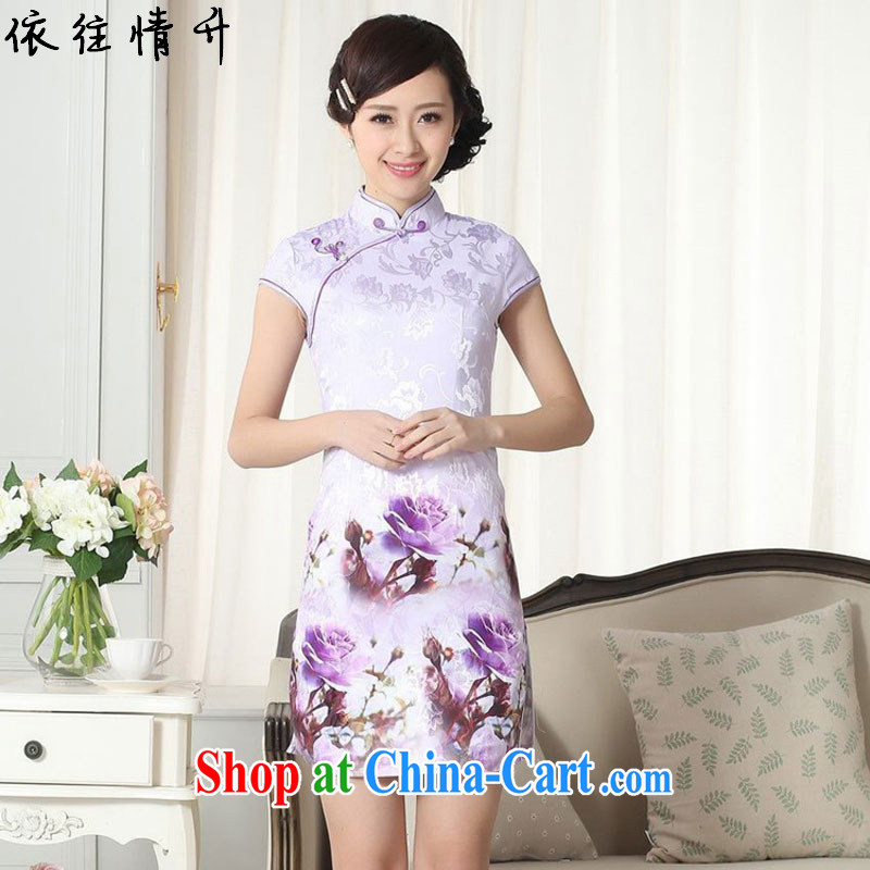 According to the conditions in summer and stylish new improved daily Chinese qipao, for cultivating short cheongsam dress LGD/D #0262 figure 2 XL