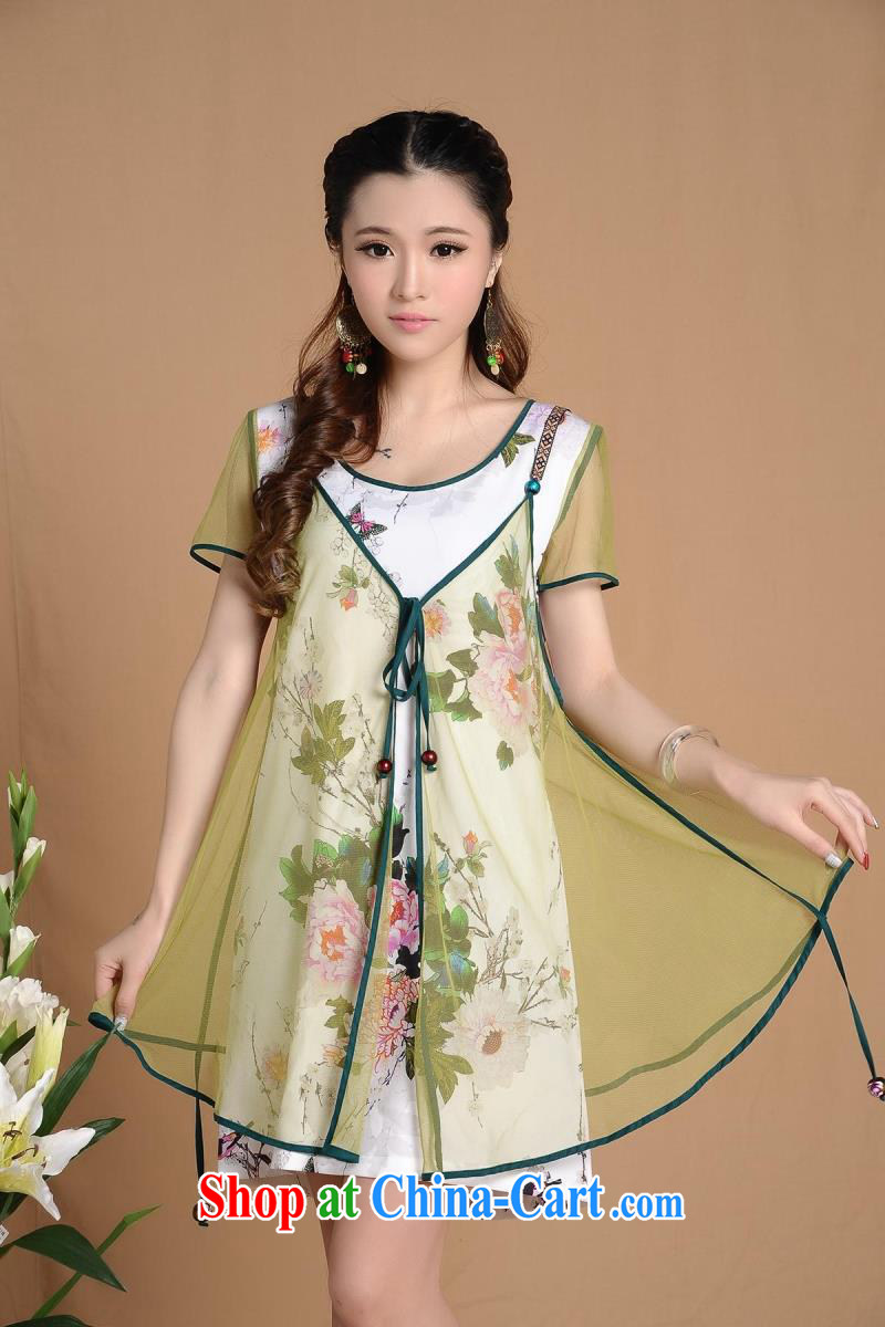 9 month dress H 7257 #Ethnic Wind new summer decoration, improved cheongsam picture color XXL pictures, price, brand platters! Elections are good character, the national distribution, so why buy now enjoy more preferential! Health