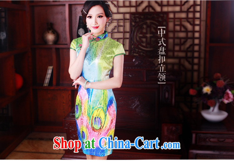 ruyi, 2015 new cheongsam dress stylish improved retro beauty daily short cheongsam dress suit 5006 XXL pictures, price, brand platters! Elections are good character, the national distribution, so why buy now enjoy more preferential! Health