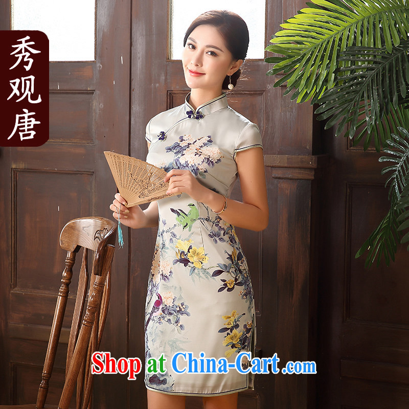 The CYD HO Kwun Tong' of South Africa 2015 sticks summer dresses fashion dress retro improved stamp dresses QD 5128 fancy XXL