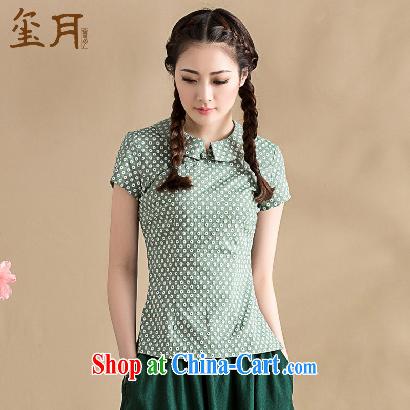 Royal Seal on 2015 original spring and summer new literary and artistic Chinese T-shirt art elegant floral doll for Chinese female picture color XL