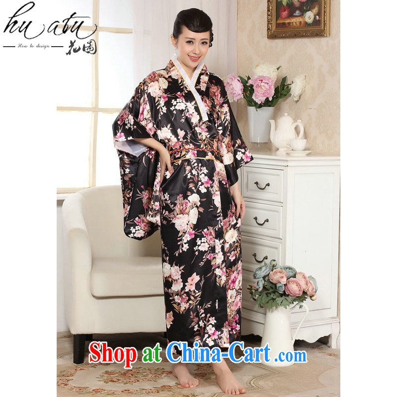 Take the female new 2015 stage clothing kimono damask stamp Chinese improved long Japanese kimono costumes picture color code